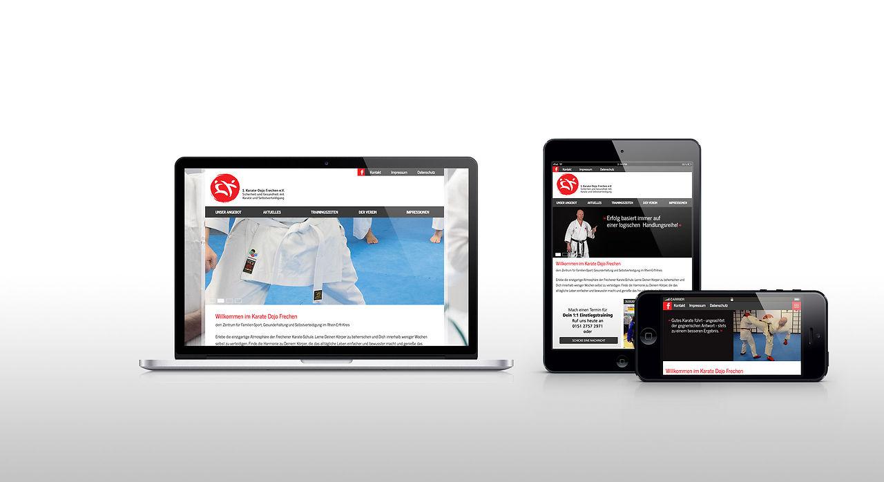 Responsive Design von www.karate-frechen.de
